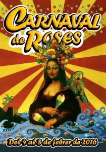 Cartell Carnaval Roses 2016.
