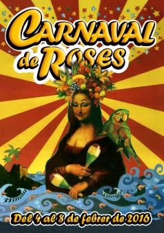 Cartell Carnaval Roses 2016.