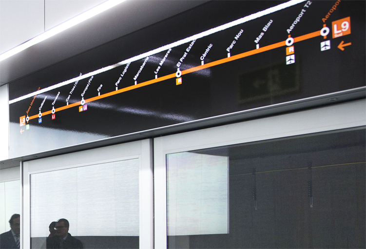 El tram de l'L9, en servei el 12 de febrer