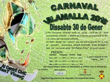 Programació del Carnaval de Vilamalla 2016