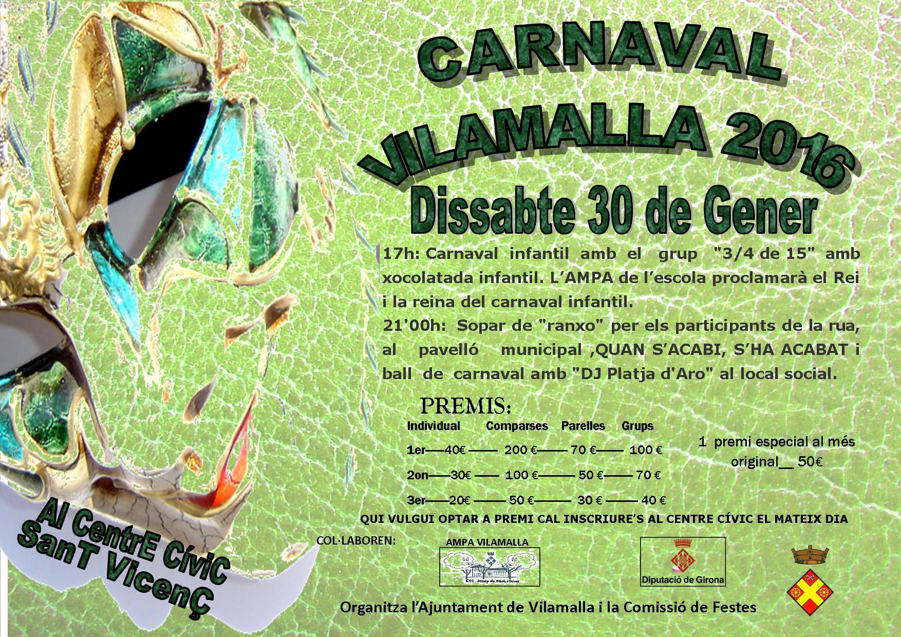 Aquest dissabte Carnaval a Vilamalla