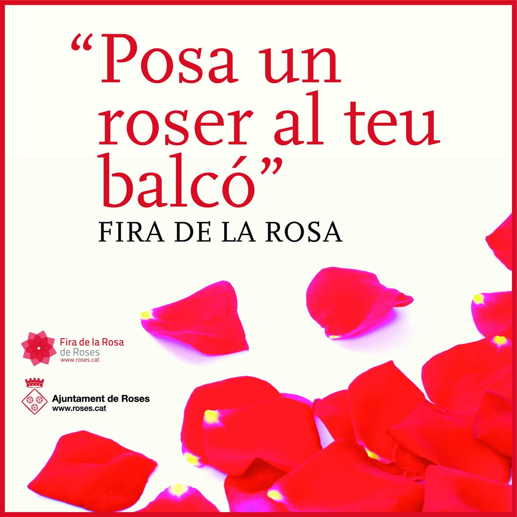 """""""Posa un roser al teu balcó"""" el lema de la Fira de la Rosa d'enguany"""