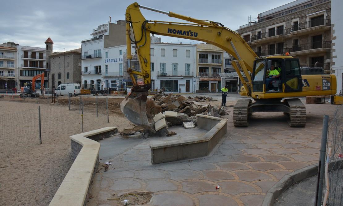 Comencen els treballs al tercer tram del front marítim del nucli antic