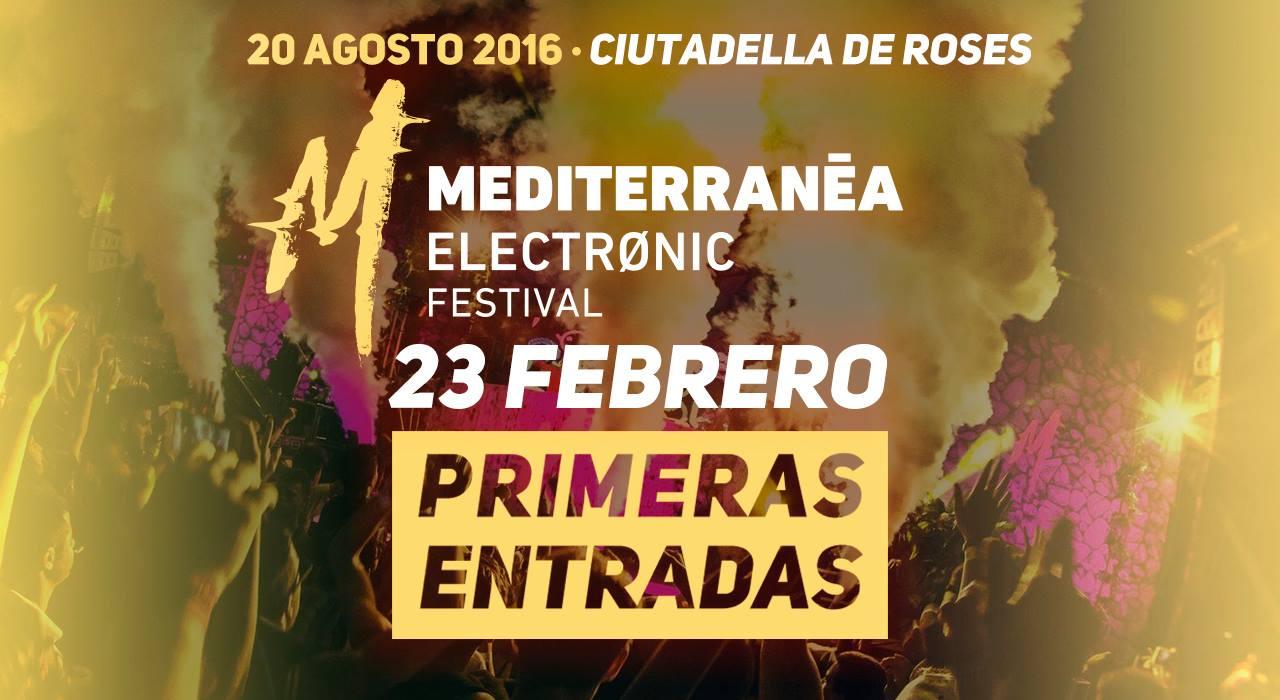 Les entrades pel Mediterranea Electronic Festival 2016 dimarts que bé a la venda