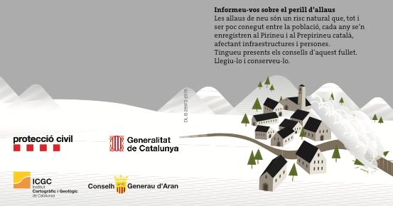 Protecció Civil de la Generalitat reparteix 4.000 fulletons explicant el risc d'allaus i consells d'autoprotecció en 38 municipis