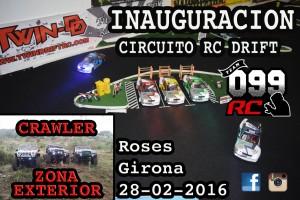 inauguració circuit drift roses radio control