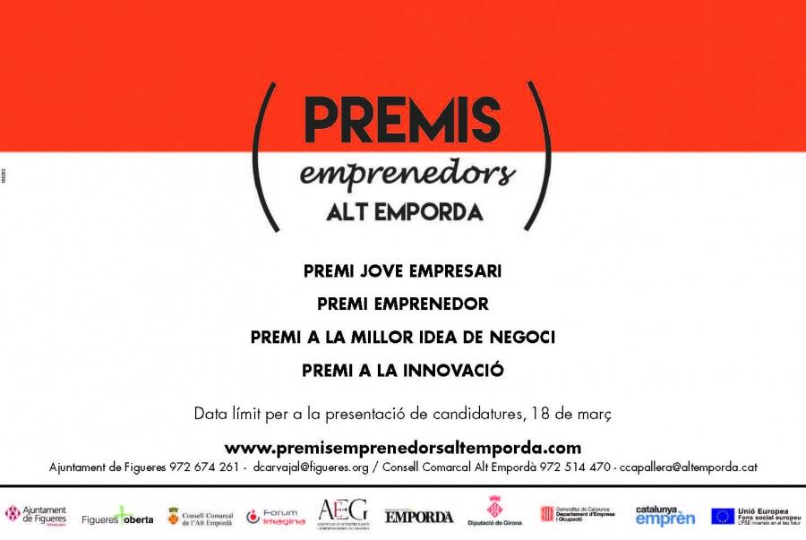 Oberta la convocatòria dels Premis Emprenedors Alt Empordà 2016