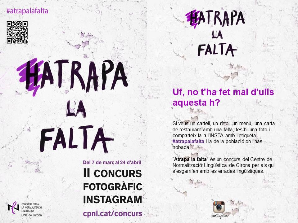 "II Concurs de Fotografia "" #Atrapalafalta """