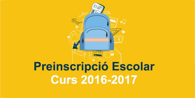 Preinscripció escolar, del 30 de març al 7 d'abril