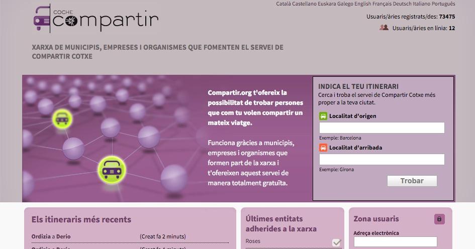 L'Ajuntament de Roses impulsa la plataforma on-line COMPARTIR COTXE per facilitar la mobilitat sostenible