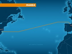 El nou cable submarí unirà Virgina (Estats Units) i Bilbao per millorar els serveis online de Microsoft i Facebook. / Microsoft