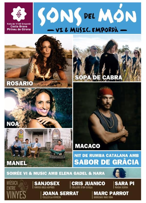Sopa de Cabra, Rosario i Macaco, a la Ciutadella de Roses aquest estiu dins el festival SONS DEL MÓN