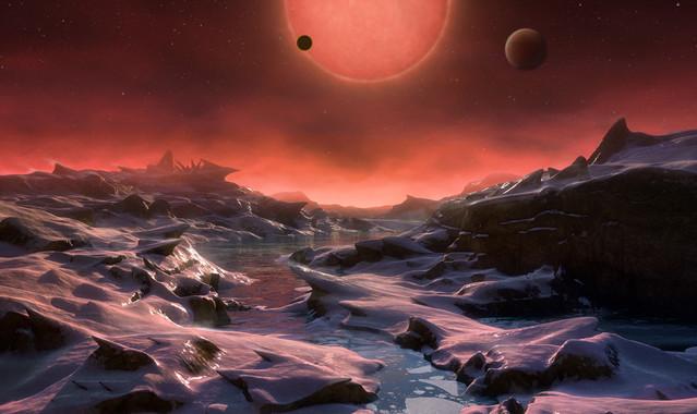 Tres nous mons en un estel proper animen la cerca de vida