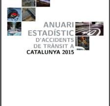 Anuari estadístic d'accidents de trànsit a Catalunya 2015