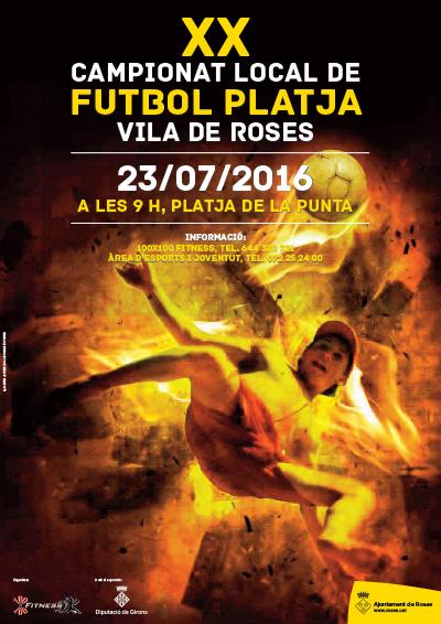 El futbol platja de Roses canvia de data i se celebrarà el 23 de juliol