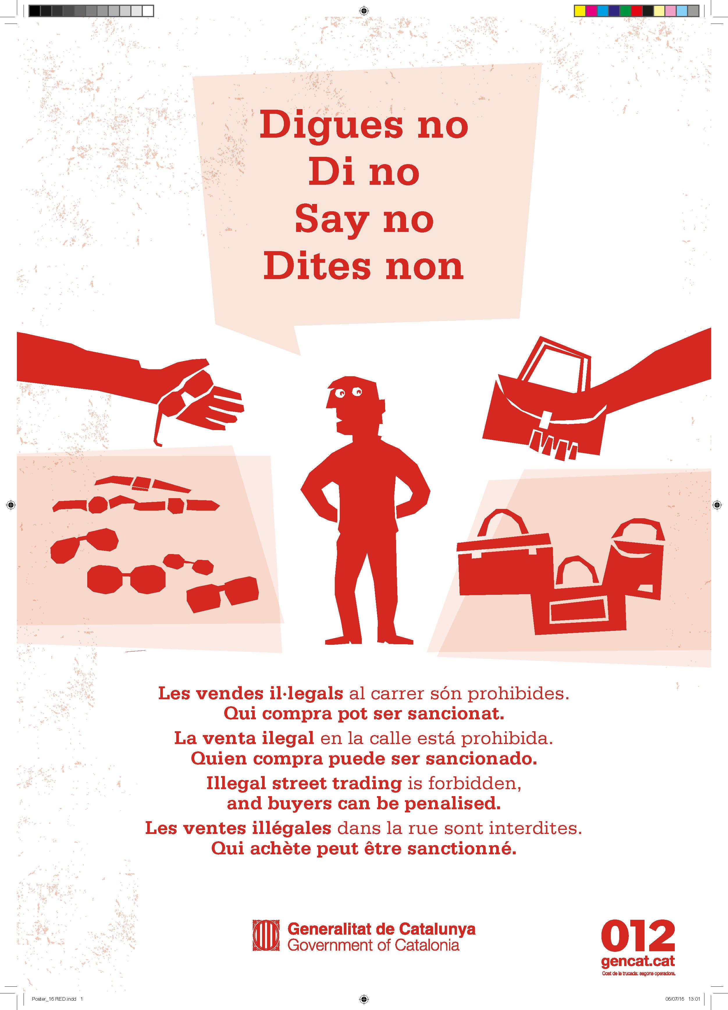 Campanya conjunta de la Generalitat, l'Ajuntament de Roses i els comerciants contra la venda il·legal