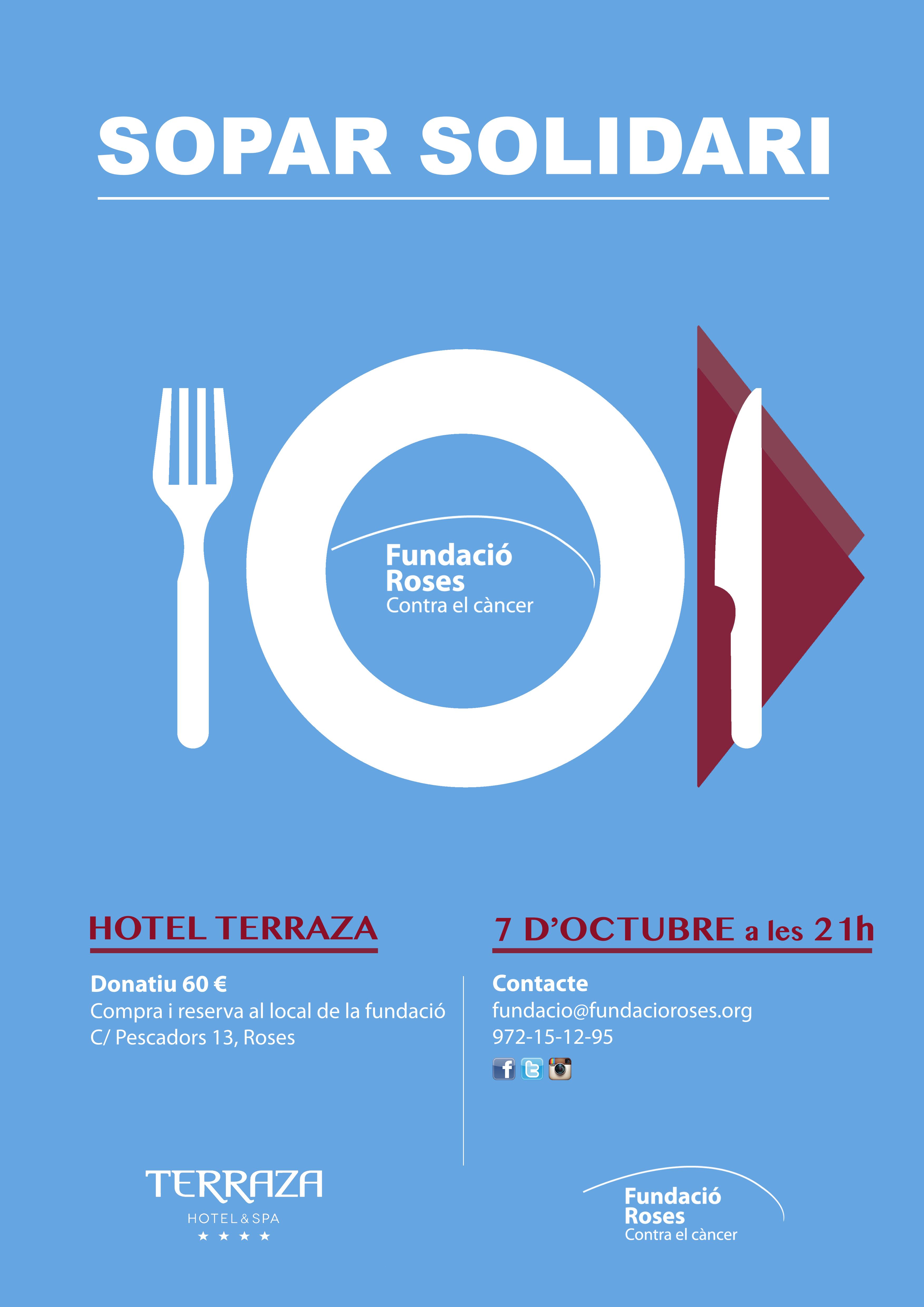 Còctels solidaris de Manel Vehí i sopar contra el càncer a l'Hotel Terraza de Roses