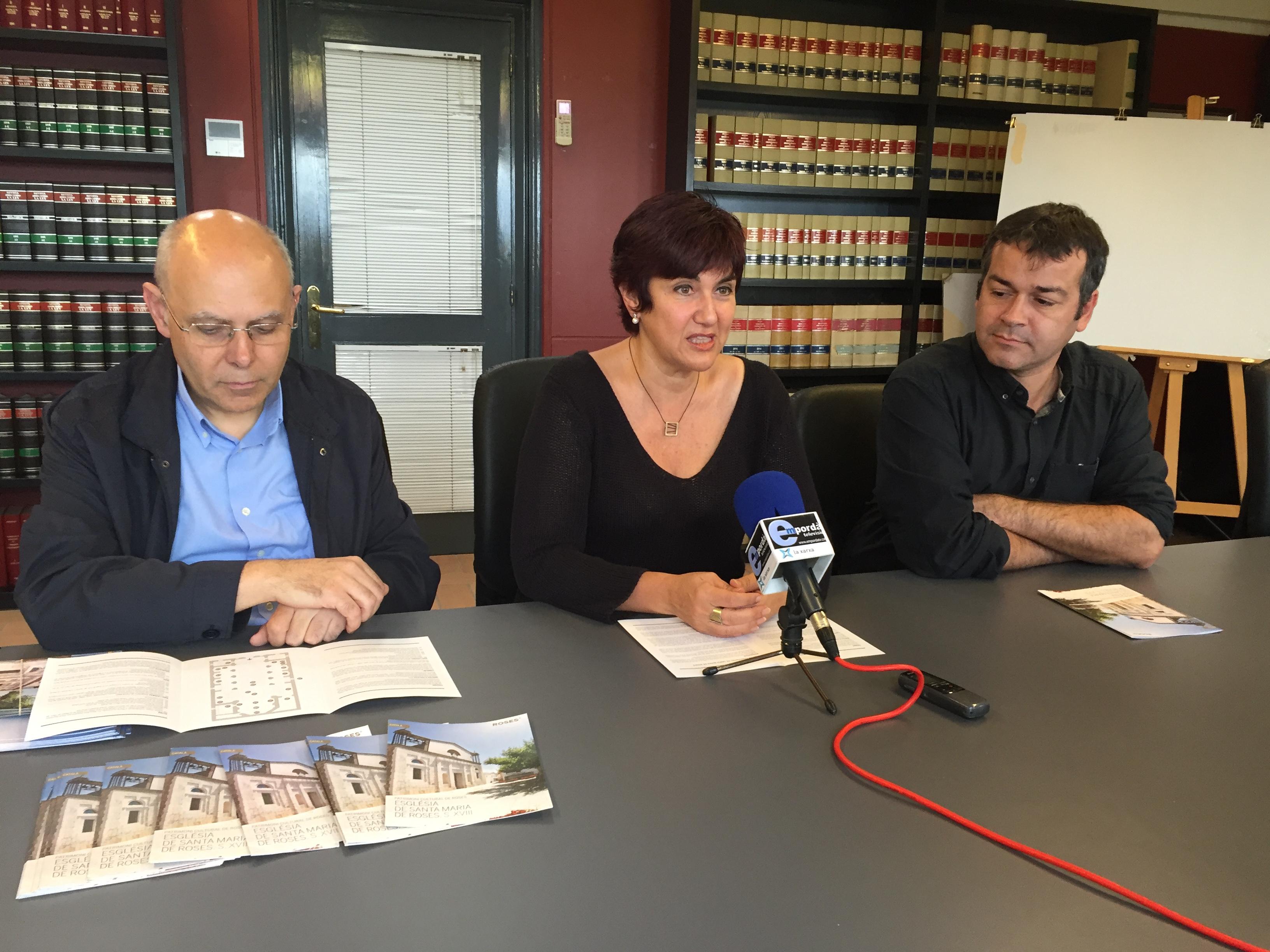L'Ajuntament edita un tríptic sobre l'església parroquial de Santa Maria de Roses
