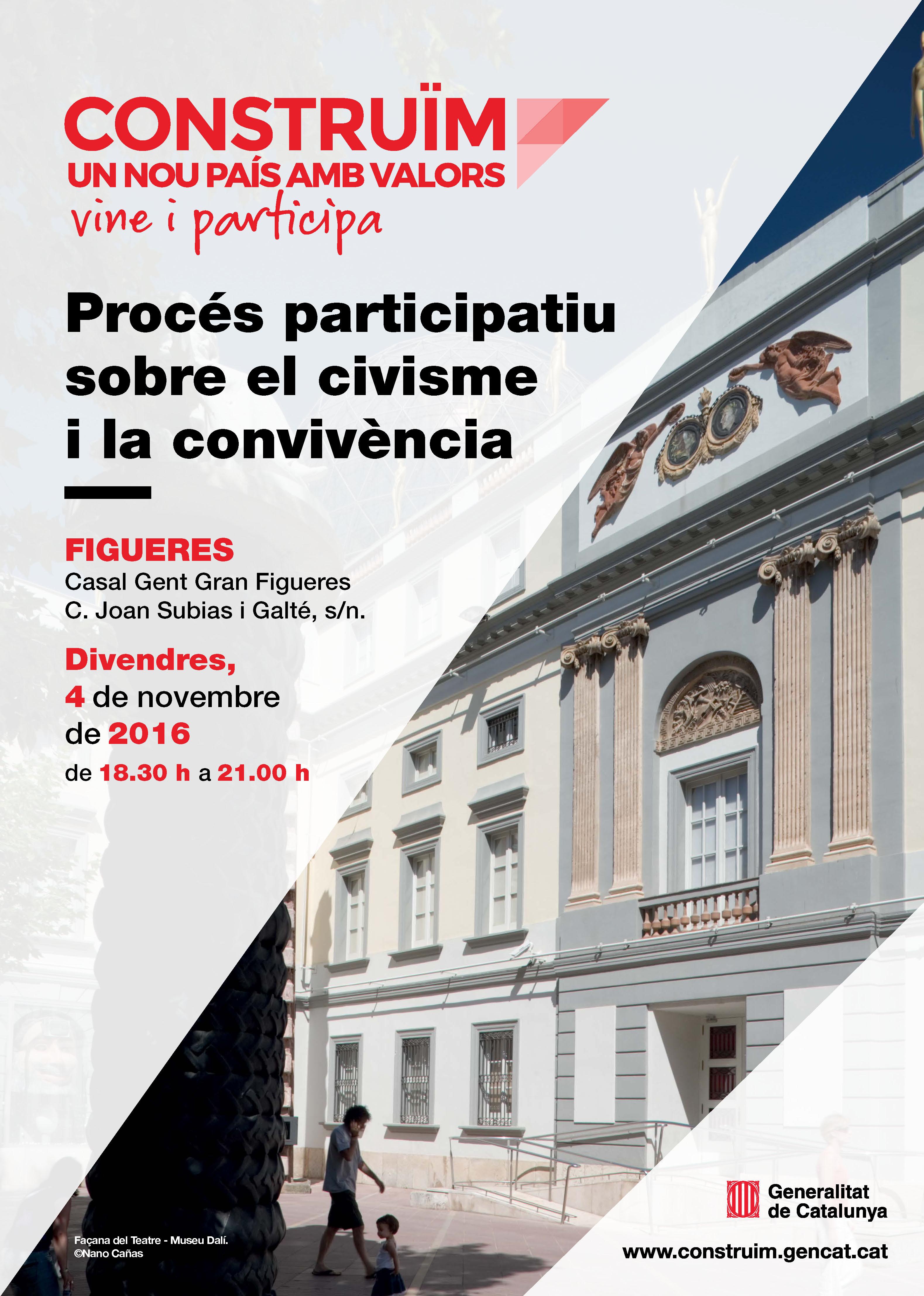 El dia 4 de novembre se celebra la jornada «Construïm un nou país amb valors» de l'Alt Empordà