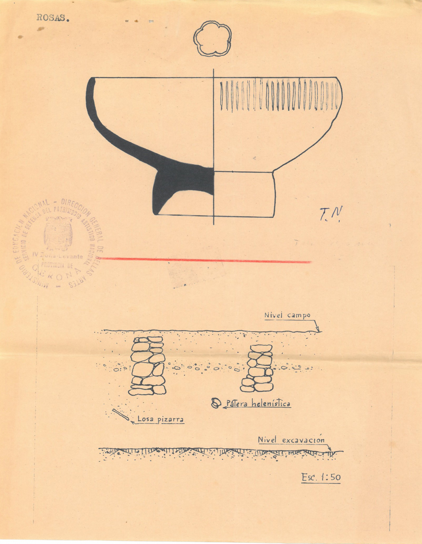 El Document del Mes de l'Arxiu Municipal de Roses commemora els 100 anys d'excavacions a la Ciutadella