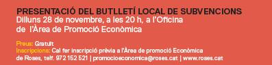 Sessió informativa sobre subvencions per a associacions i empresariat