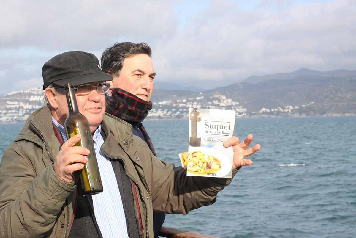 Troben a Cala Montgó la primera ampolla premiada amb un menú de Suquet de Peix de Roses