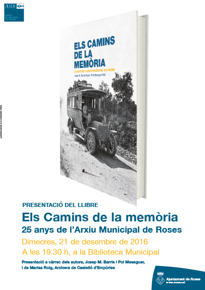 """""""Els Camins de la Memòria"""", una selecció del fons documental de l'AMR en el seu 25è aniversari"""