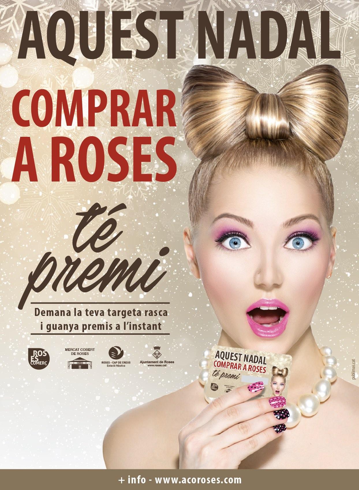 Comerciants i paradistes del Mercat Cobert de Roses repartiran 5.000 euros en premis en la campanya de Nadal