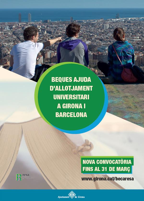L'Ajuntament de Girona obre una nova convocatòria de beques d'allotjament en residències universitàries