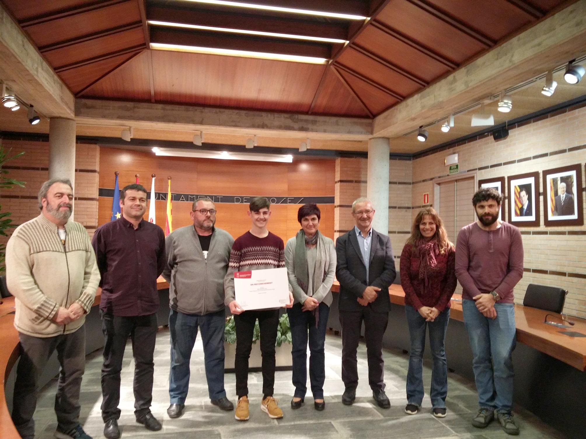 Recepció al campió d'Espanya Júnior de Taekwondo, Joan Jorquera