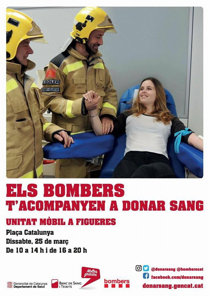 """Figueres acull aquest dissabte la inauguració de la campanya """"Els bombers t'acompanyen a donar sang"""""""