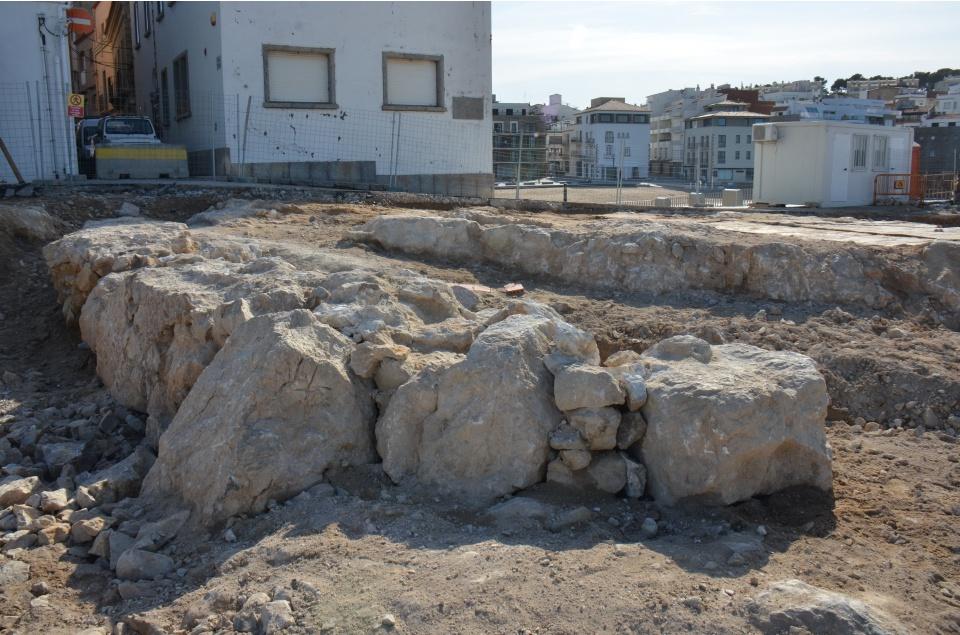 Les restes de la torre de la Punta s'integraran al projecte del front marítim