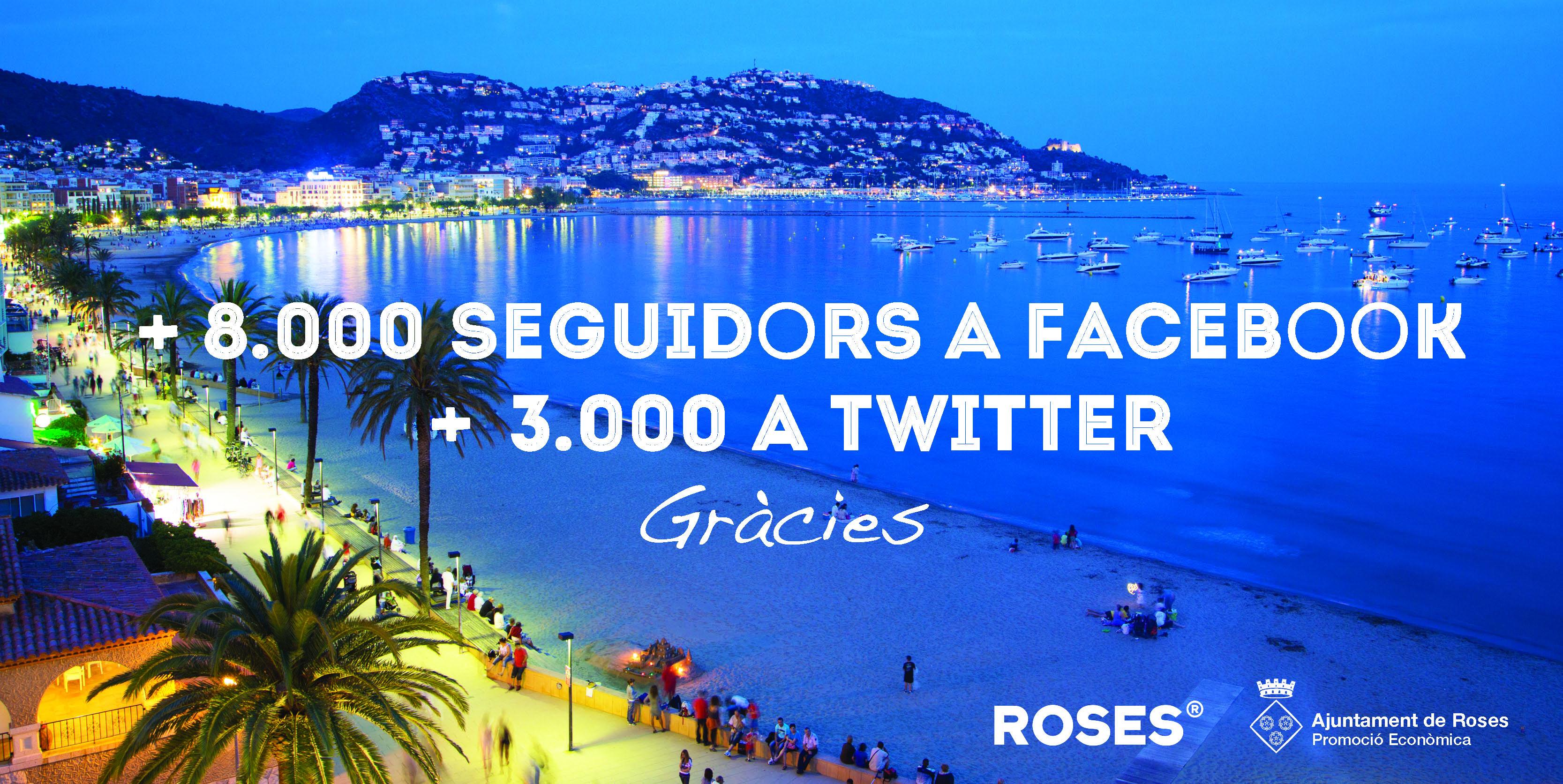 L'Ajuntament de Roses creix a les xarxes socials