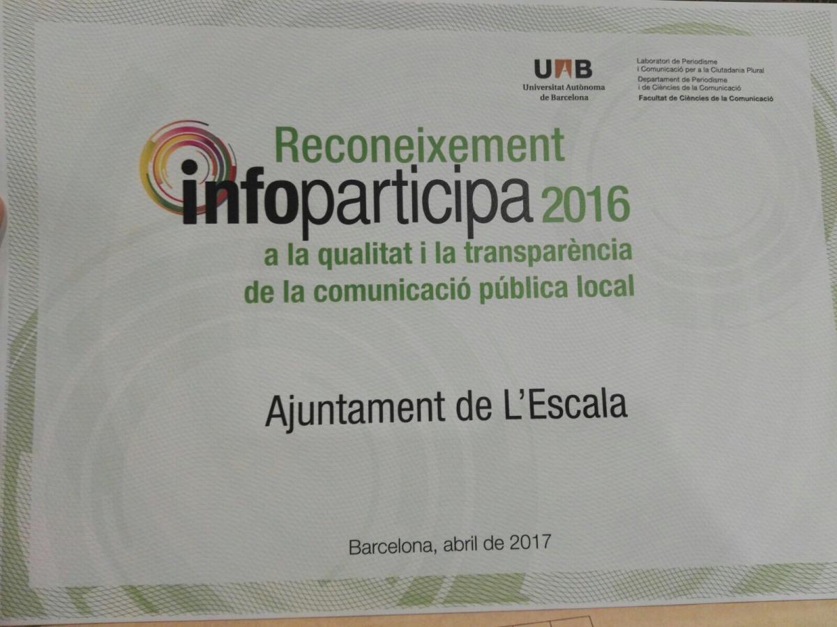 El web municipal rep una distinció a la qualitat i la transparència de la comunicació pública