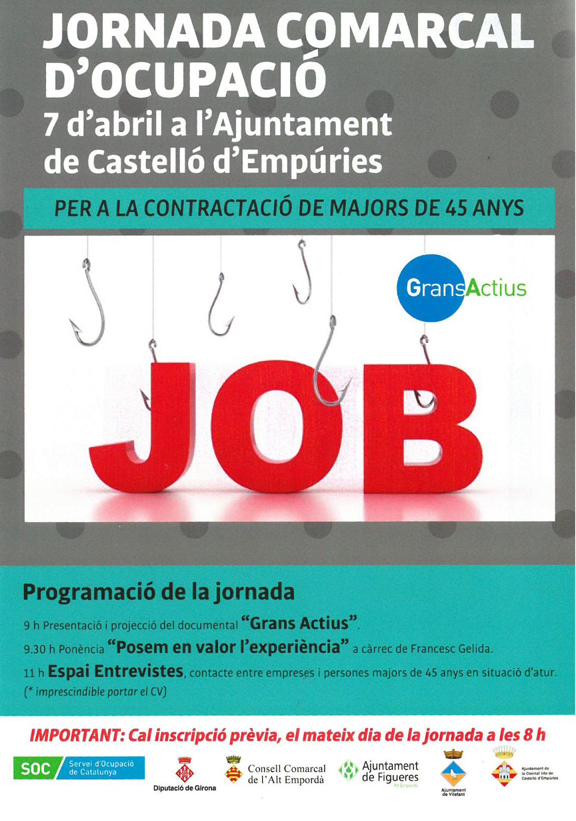 Castelló d'Empúries acull la primera jornada comarcal d'ocupació per a persones de més de 45 anys, en qual s'oferiran 23 llocs de treball