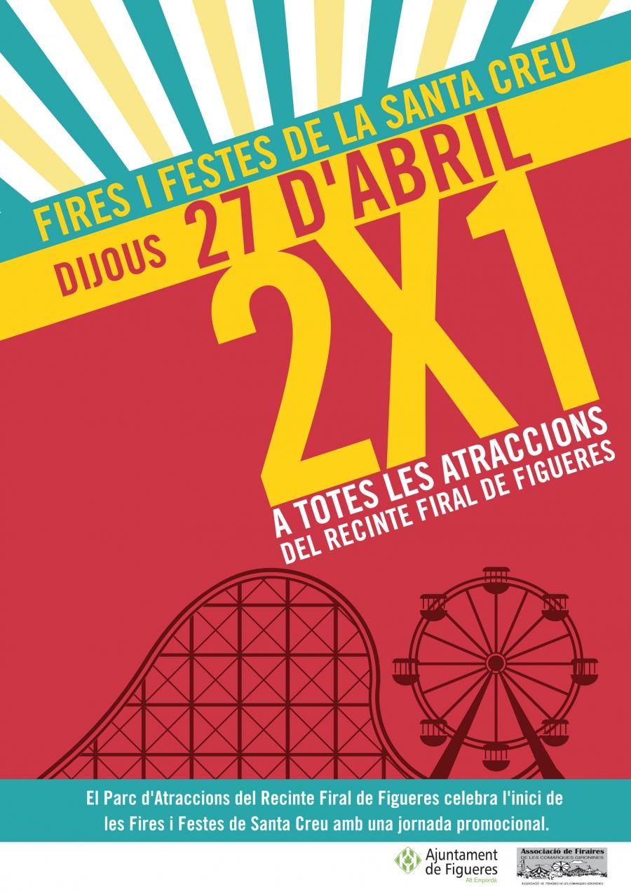 L'Ajuntament de Figueres programa la jornada promocional 2×1 al parc d'atraccions de les Fires i Festes de la Santa Creu