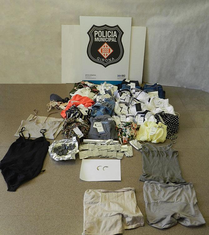 La Policia Municipal de Girona deté tres persones per furt a botigues de roba
