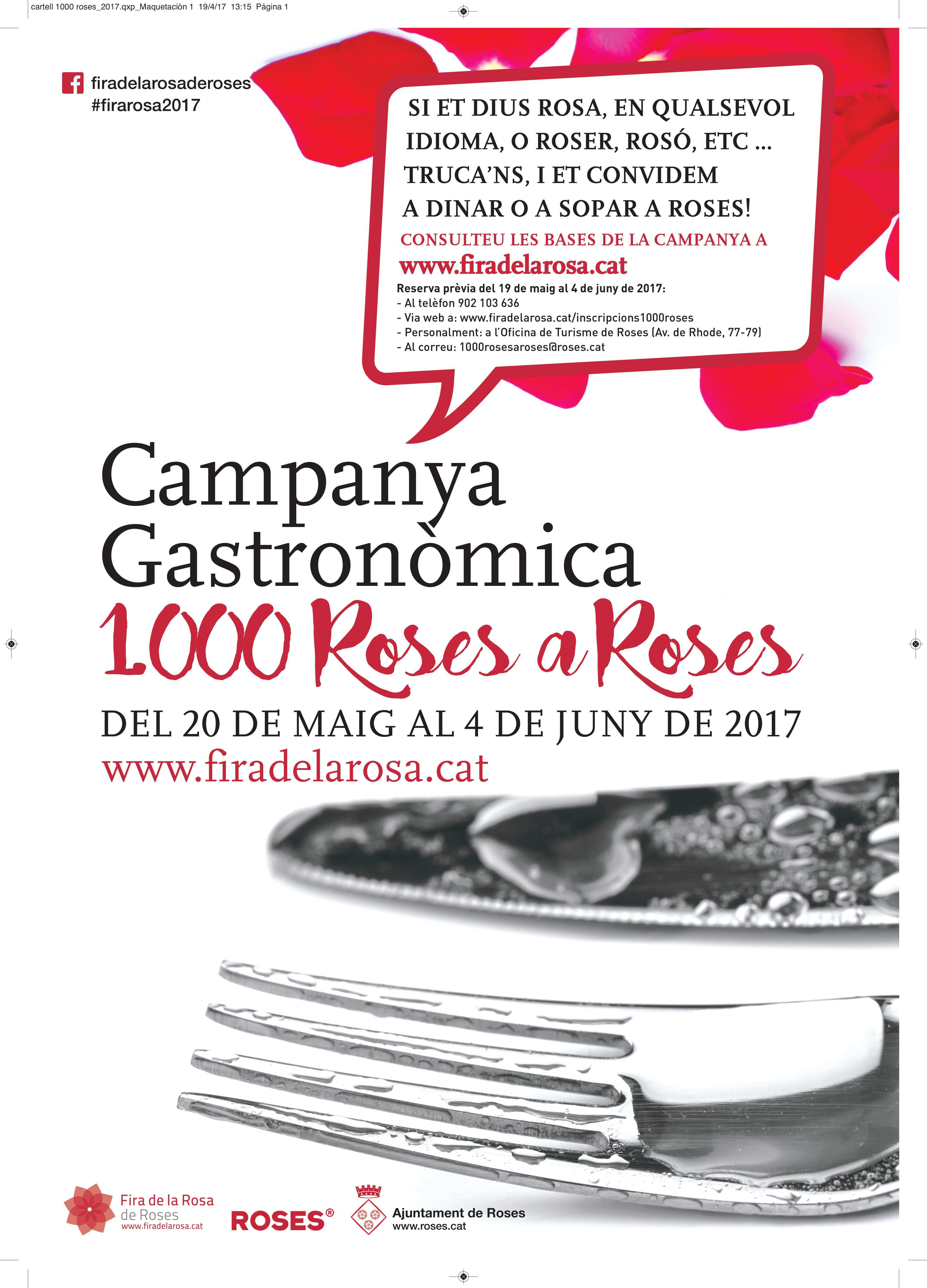 Roses convida 1.000 dones que es diguin Rosa a degustar el Menú de la Rosa
