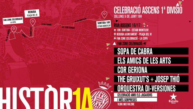 L'Ajuntament de Girona farà avui una recepció oficial al Girona FC amb motiu de l'ascens