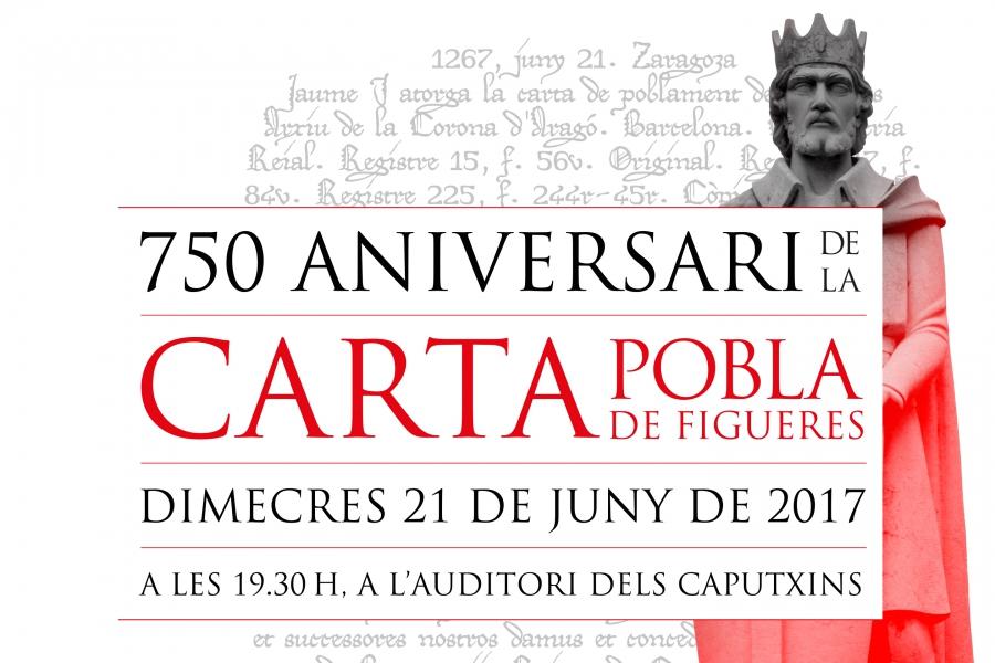 Figueres commemorarà el 750 aniversari de la Carta Pobla el 21 de juny