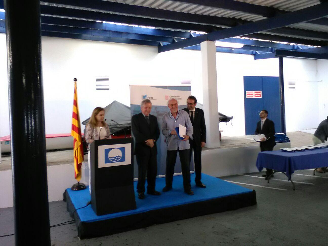 El Port esportiu de Roses obté el guardó Bandera Blava 2017