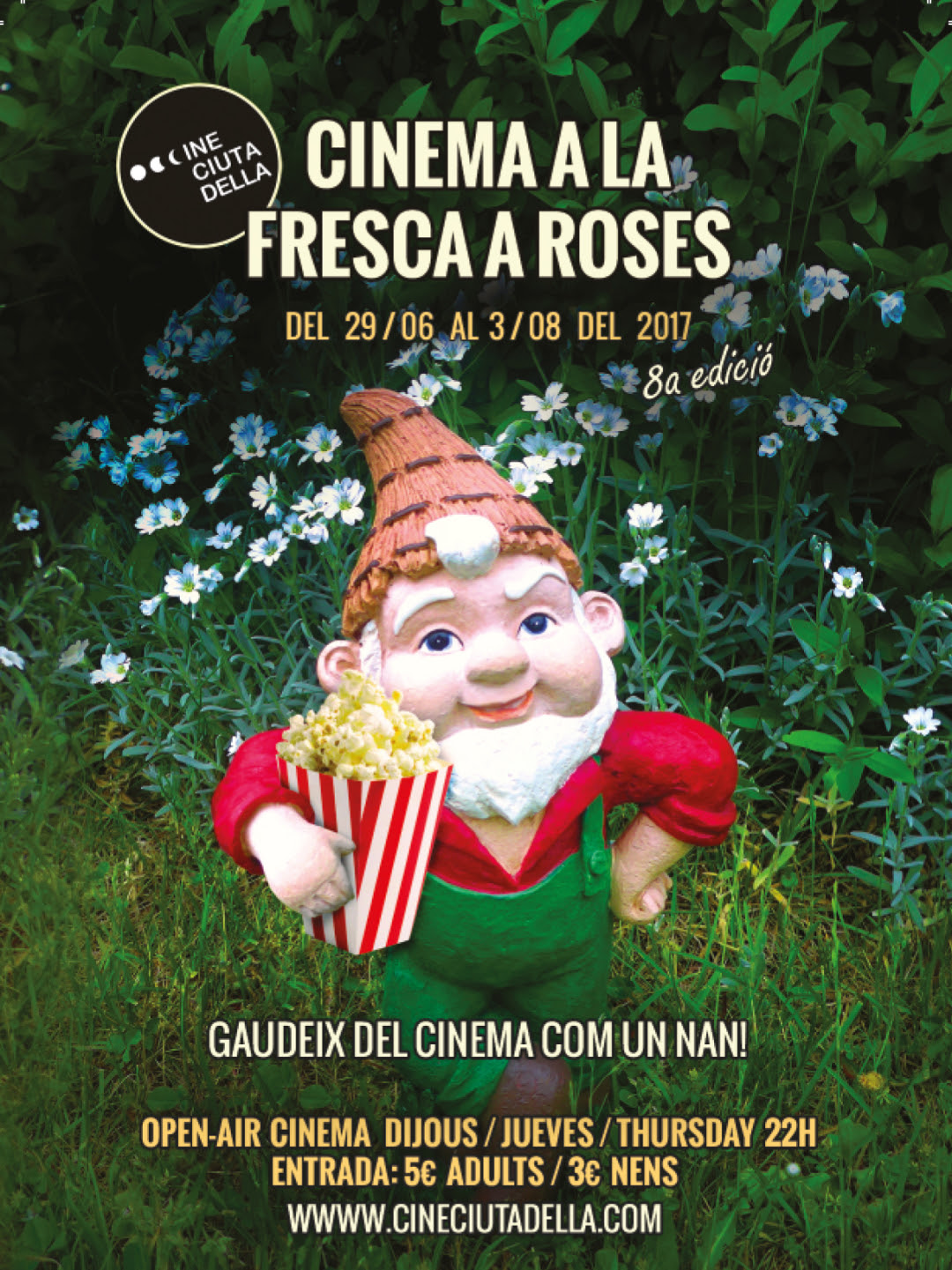 Arriba la vuitena edició del cinema a la fresca a la Ciutadella, tots els dijous a la nit, del 29 de juny fins al 3 d'agost