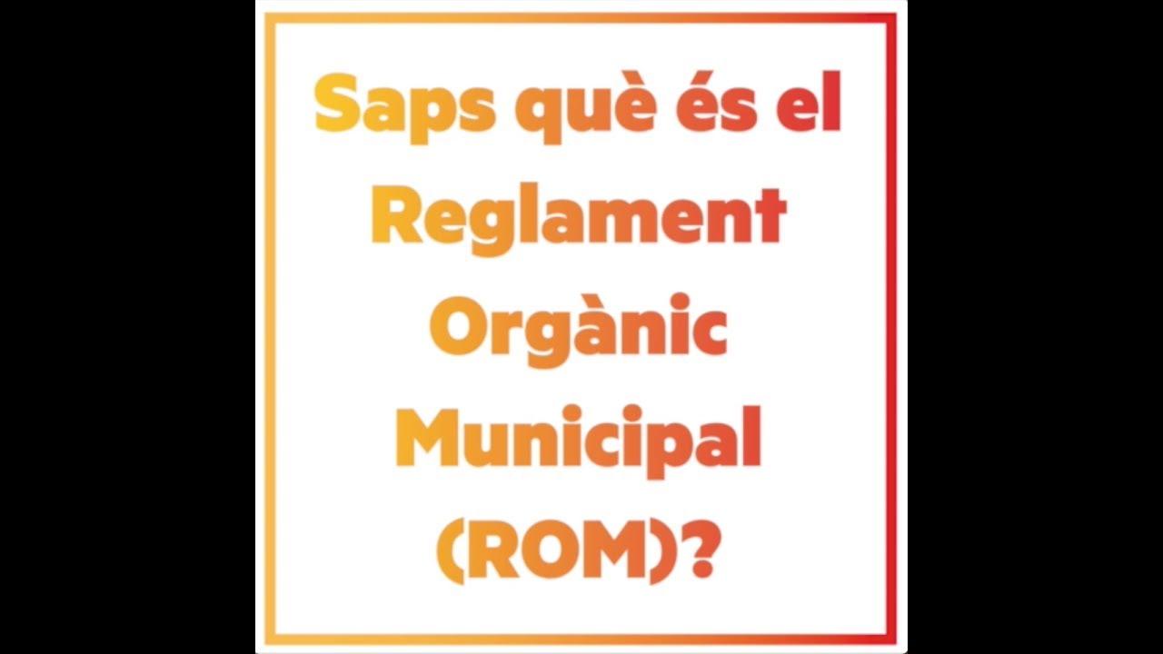 ERC Roses demanarà al proper ple una reforma del ROM