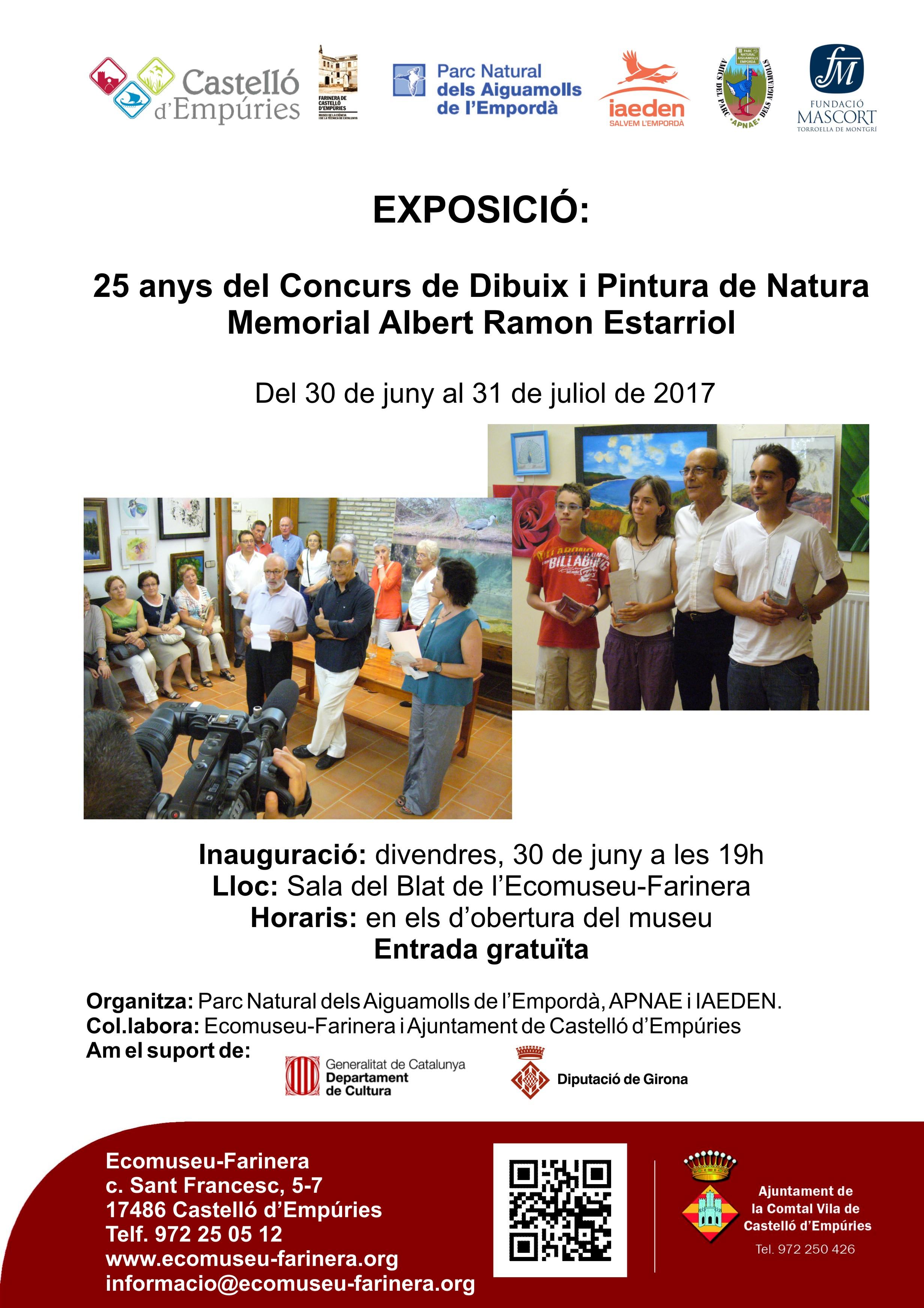 """Exposició retrospectiva: 25 anys de Concurs de Dibuix i pintura de la Natura """"Memorial Albert Ramon i Estarriol"""""""