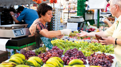 mercat de fruita i verdura de Roses