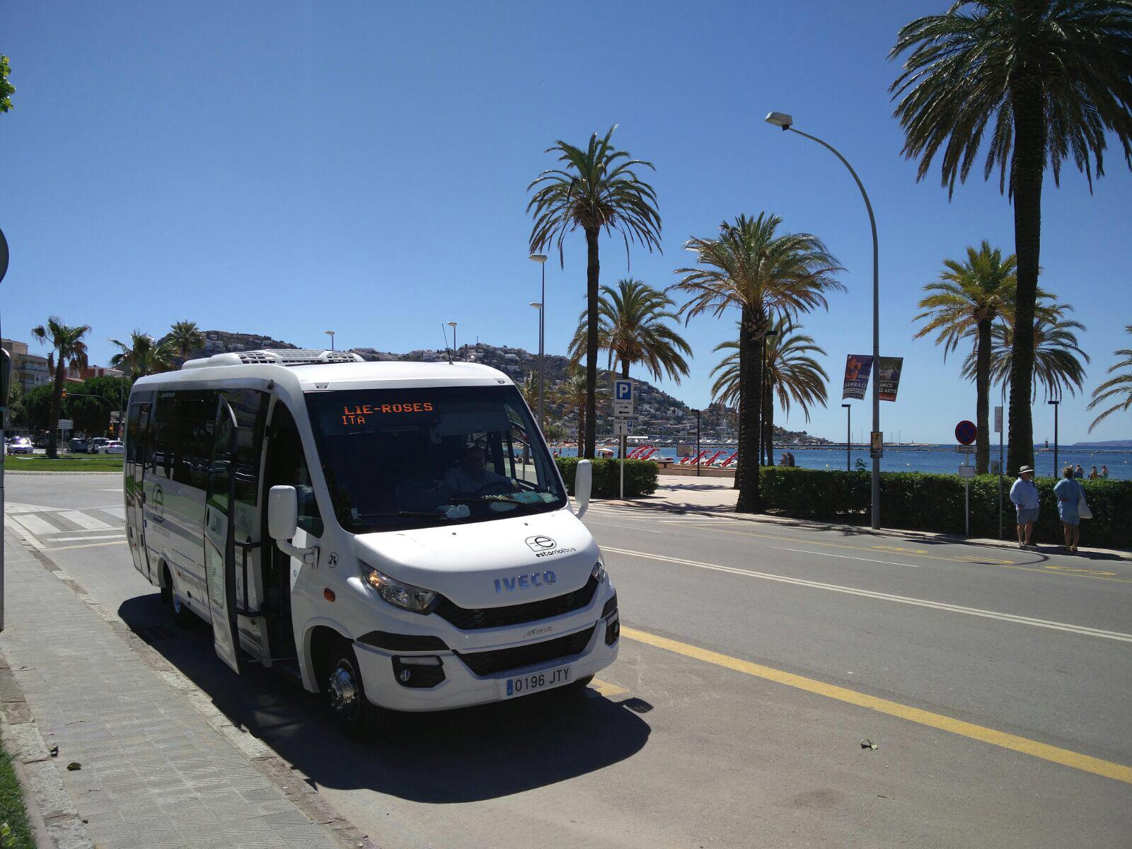 Es posa en marxa la línia L2 fins a l'Almadrava, que completa el servei de transport d'estiu a Roses