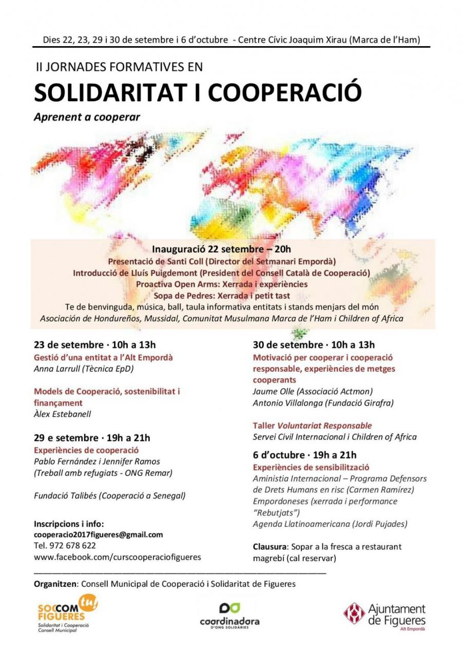II Jornades formatives en solidaritat i cooperació