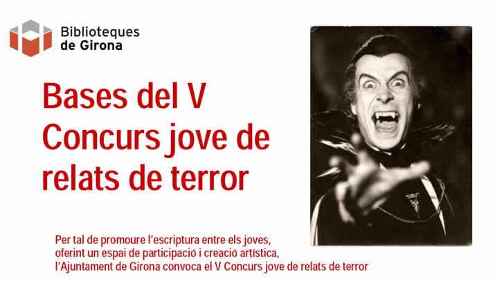 L'Ajuntament de Girona convoca el V Concurs Jove de Relats de Terror