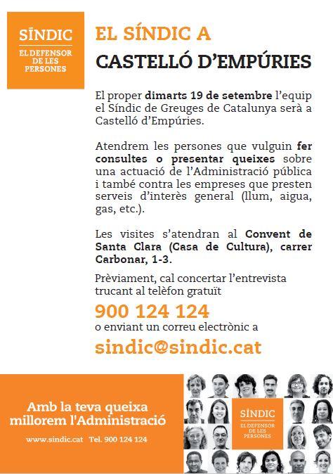 El Síndic de Greuges de Catalunya visita Castelló d'Empúries