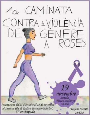 L'Illa de Rodes organitza la 1a caminada contra la violència de gènere a Roses